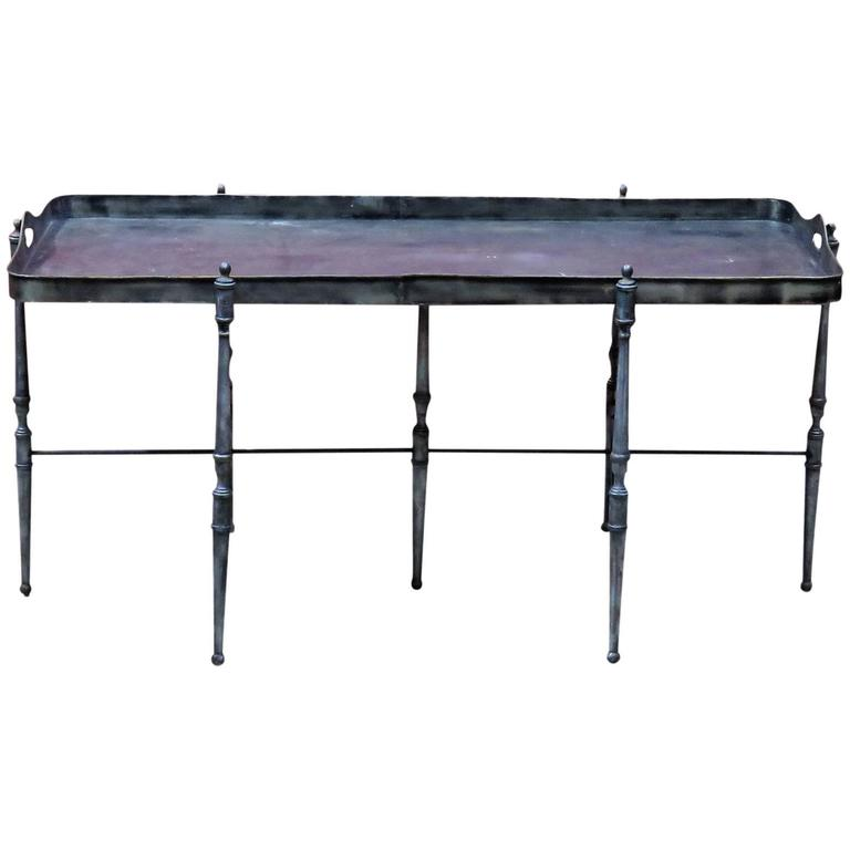 Metal Tray Top Coffee Table At 1stdibs