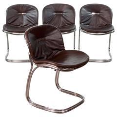 Mid-Century Set of Sabrina Dining Chairs by Gastone Rinaldi for RIMA