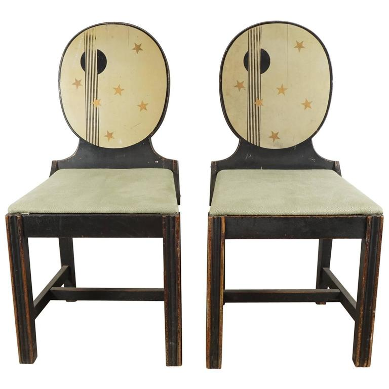 Pair of Painted Side Chairs 1