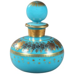 Charles X Opaline Perfume Bottle Decorated by Jean-Baptiste Desvignes