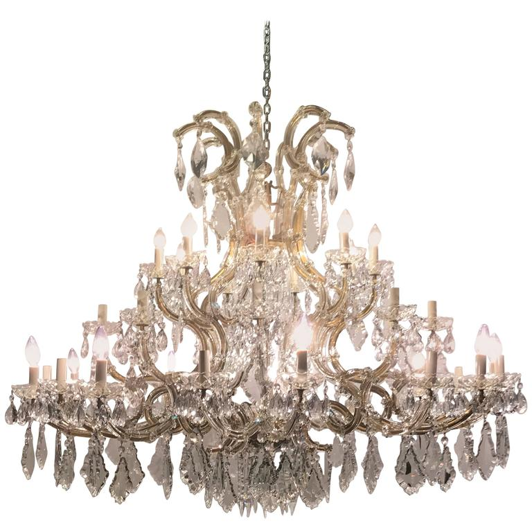 Monumental Antique Venetian Chandelier Having 41 Lights For Sale