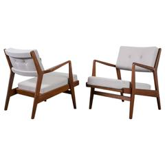 Pair of Vintage Mid-Century Lounge Chairs by Jens Risom