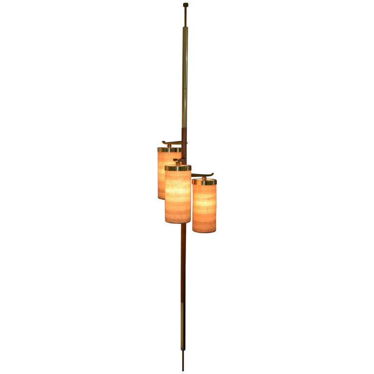 Stiffel Tension Pole Floor Lamp At 1stdibs