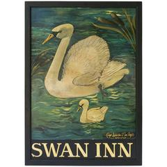 English Pub Sign, Swan Inn