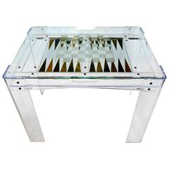 Lucite Backgammon Table