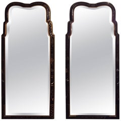 Pair of Drexal Chinrosiere Decorated Console or Pier Wall Mirrors