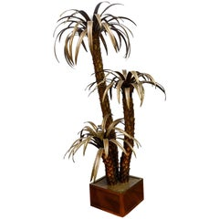 Maison Jansen Brass Palm Trees Floor Lamp