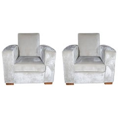 Pair of Adnet Armchairs