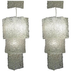 Pair of Sconces in Murano Glass.
