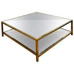 Coffee Table in Mirror and Brass