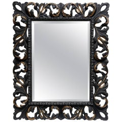 Mirror Surrounding by Wood in the Style of Napoleon III