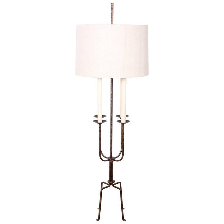 Tommi Parzinger Gilt-Iron Floor Lamp