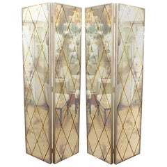 Four-Panel Smoked Mirrored Screen