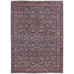 Antique Persian Tabriz Area Rug with Luxe Baroque Style