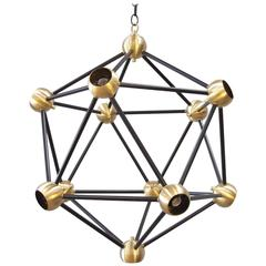 ON SALE!  Black and Brass Pendant Light