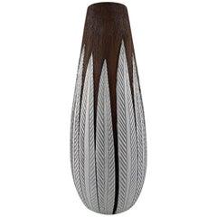 """Anna-Lisa Thompson for Upsala-Ekeby """"Paprika"""" Ceramic Large Floor Vase"""