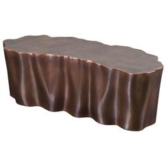 Lotus Leaf Bench by Robert Kuo, Antique Copper, Limited Edition