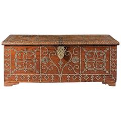 Antique Spanish Colonial-Style Hardwood Chest