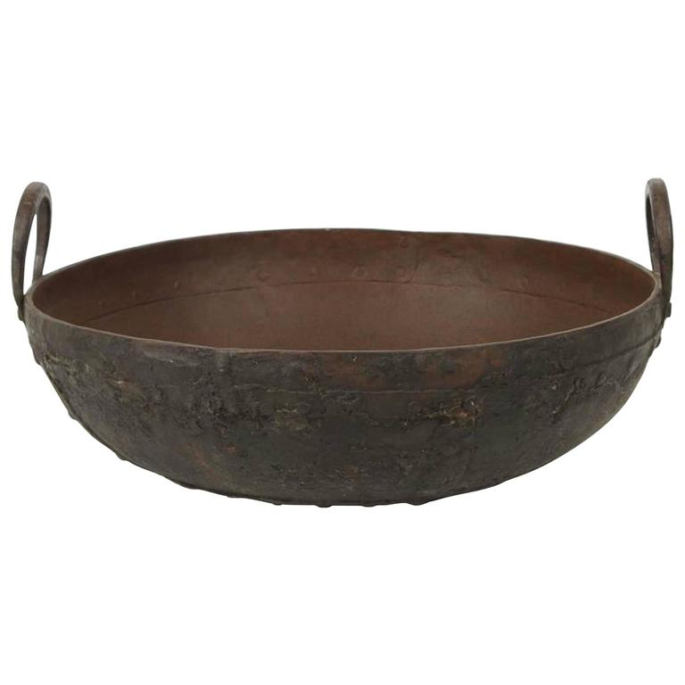 Large Metal Iron Pot from Southern India