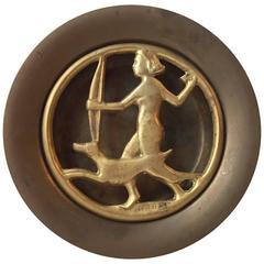 Art Deco Bronze Insence Burner / Potpourri Tray by N. Dam Ravn, Denmark, 1930s