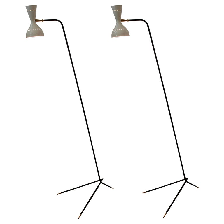 Pair of Italian Floor Lamps For Sale