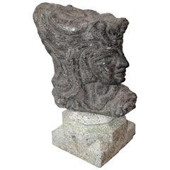 Italian Mid-Century Trojan Head Sculpture