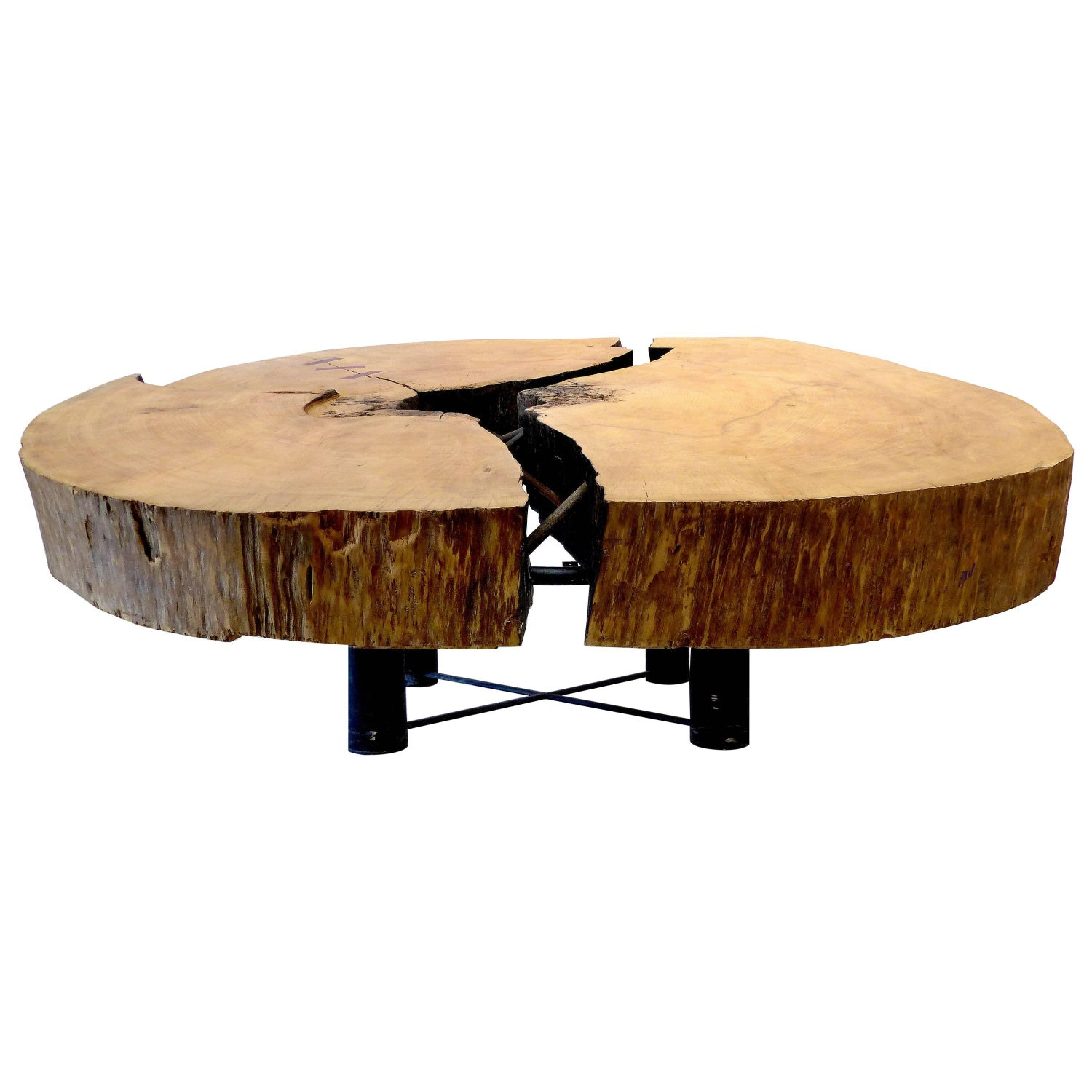 Michael taylor cyprus tree trunk dining table at 1stdibs - Monumental Brazilian Amazon Mirindiba Wood Tree Trunk 2016 Sculpture Table Base For Sale At 1stdibs