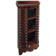 Corner Whatnot Display Cabinet in Fine Rosewood English Victorian, circa 1850