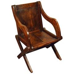 Oak Glastonbury Study Desk Elbow Country Chair Quality Armchair, circa 1900