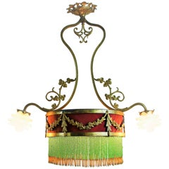 Belle Époque French Gilt Bronze Chandelier, circa 1890s
