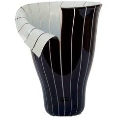 Italian Murano Glass Vase Spacco Model by Toni Zuccheri for Barovier e Toso