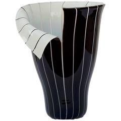 "Toni Zuccheri, ""Spacco"" Murano Glass Vase, Barovier e Toso, Italy"