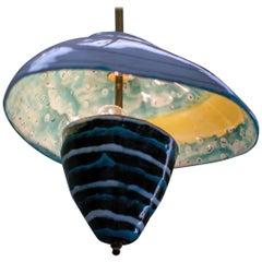 Majolica Pendant Light by Otello Rosa for San Polo, Venezia