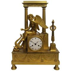 Early 19th Century Gilt Bronze Mantel Clock