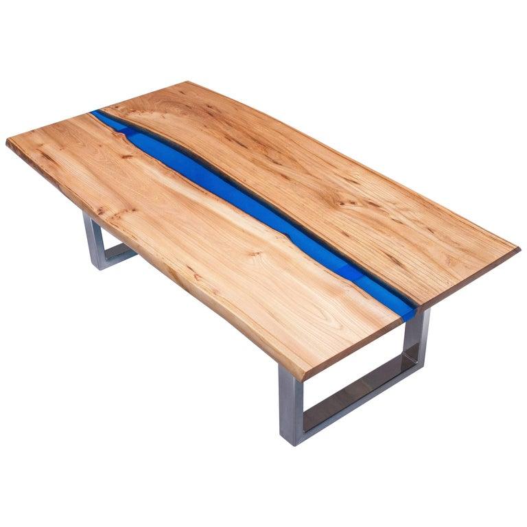Resin Coffee Table Blue Diy Epoxy
