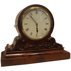 19th Century English Fusee Mantel Clock by Brockbank & Atkins