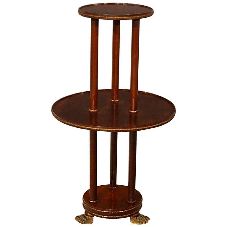 Display Table Dumb Waiter Jardinire Stand Torchere Empire
