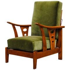 Beautiful Dutch Deco Reclining Lounge Chair