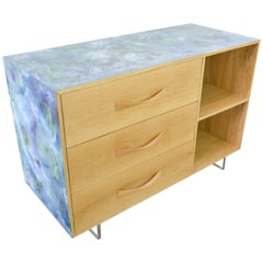 Resin Art Oak Sideboard