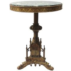 19th Century Bronze and Marble Table