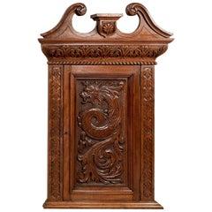 Walnut Carved Corner Cabinet Cupboard Quality Edwardian Oriental, circa 1910