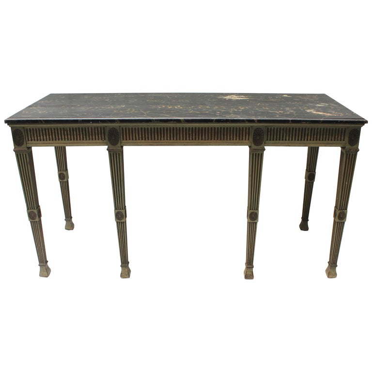 regency style console table for sale at 1stdibs. Black Bedroom Furniture Sets. Home Design Ideas