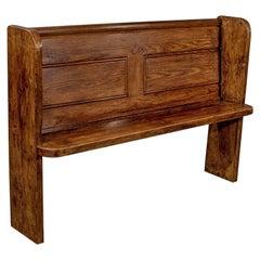 Antique Country Pine Pew Bench, circa 1900