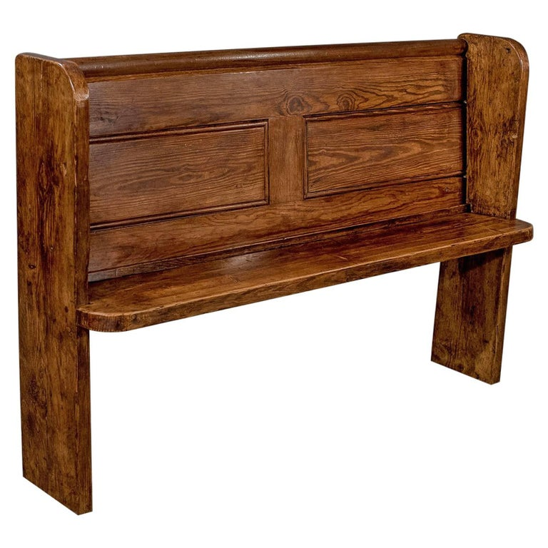 Antique country pine pew bench circa 1900 for sale at 1stdibs
