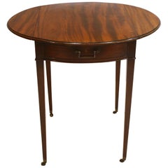 Georgian Pembroke Table / Oval Top