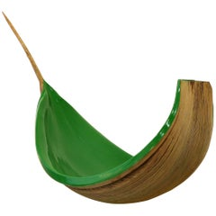 Brazilian Amazon Coconut Palm Frond Sculptural Bowl by Valeria Totti