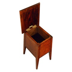 Antique Arts & Crafts Sewing Ladies Work Box Stool, St. Dunstan's, circa 1920