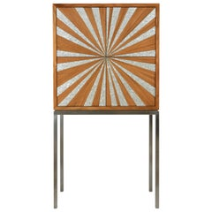Sun Cabinet by Nada Debs, Contemporary Cabinet with Mother-of-Pearl Inlay