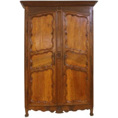 Large 18th Century French Walnut Armoire