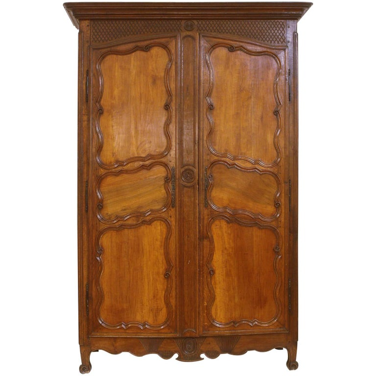 Large 18th Century French Walnut Armoire 1